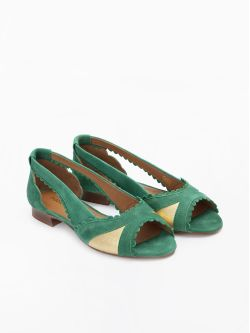 Retro Pump - Kid Suede - Verde