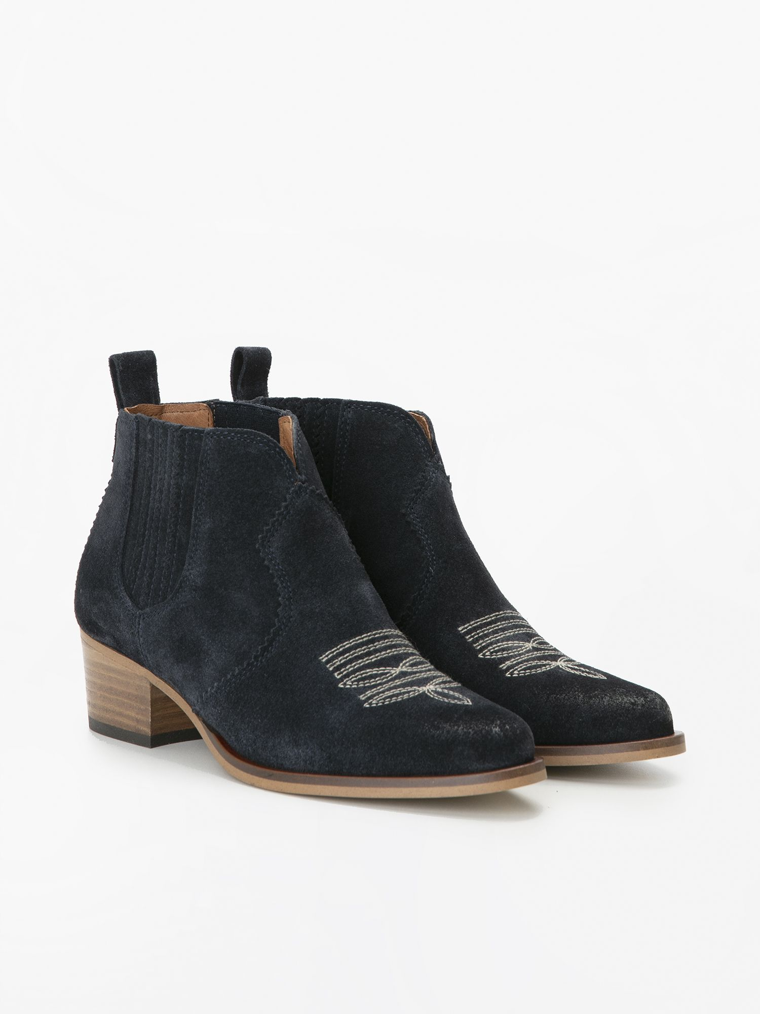 schmoove.fr POLLY BOOTS - COWSUEDE - NAVY