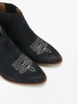 Polly Boots - Cowsuede - Navy
