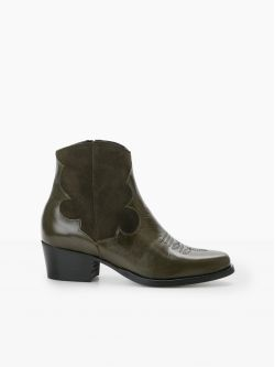 POLLY WEST - LOUXOR/SUEDE - OLIVE/OLIVE