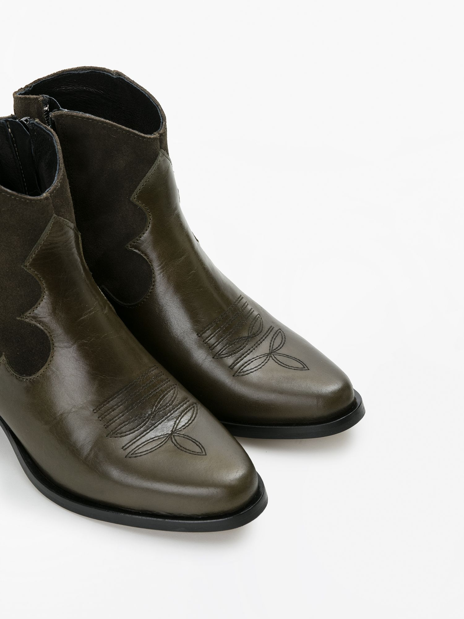 schmoove.fr POLLY WEST - LOUXOR/SUEDE - OLIVE/OLIVE