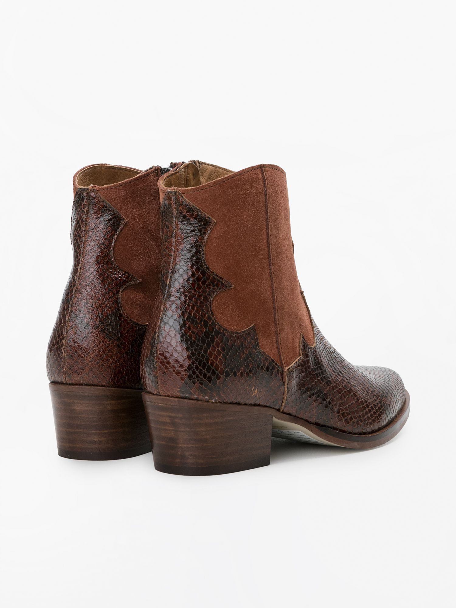schmoove.fr POLLY WEST - THUNDER/SUEDE - WHISKY/BRIQUE