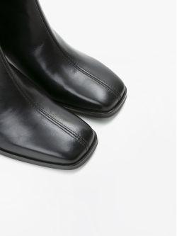RITA BOOTS - LEATHER - BLACK