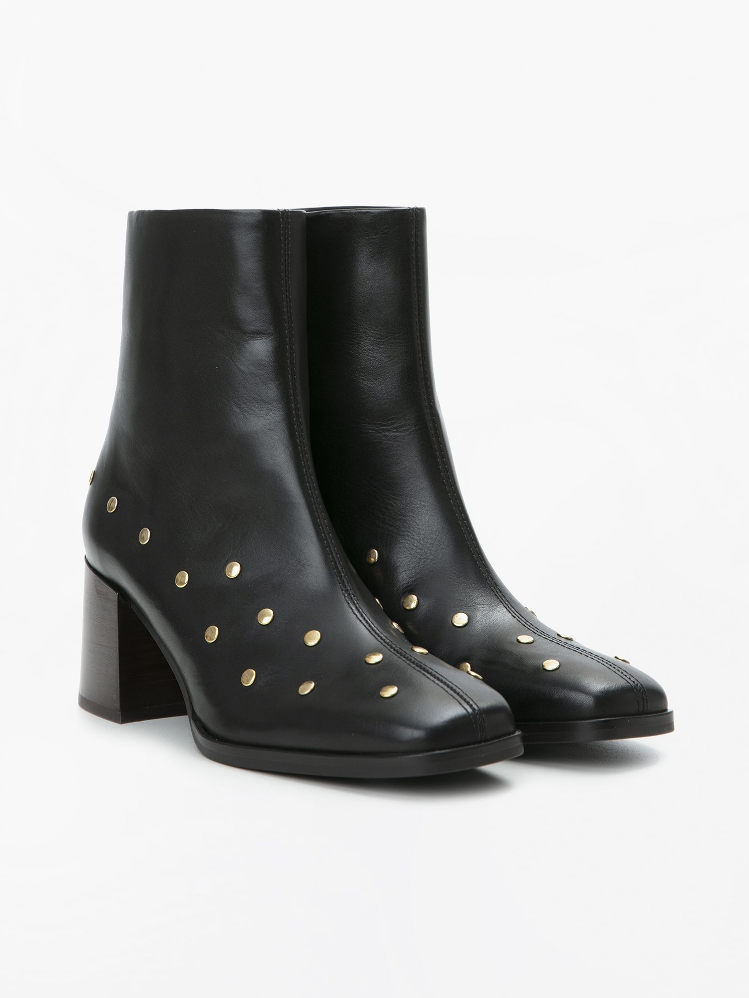 schmoove.fr RITA BOOTS - STUDS LEATHER - BLACK