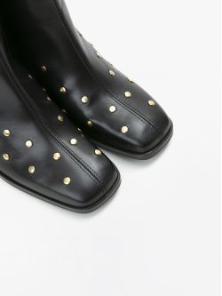RITA BOOTS - STUDS LEATHER - BLACK