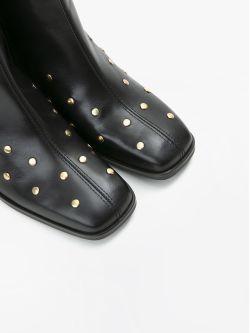 RITA BOOTS - STUDS LEATHER - BLACK