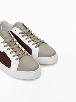 SPARK CLAY - SUEDE/NAPPA - RUST/TAUPE
