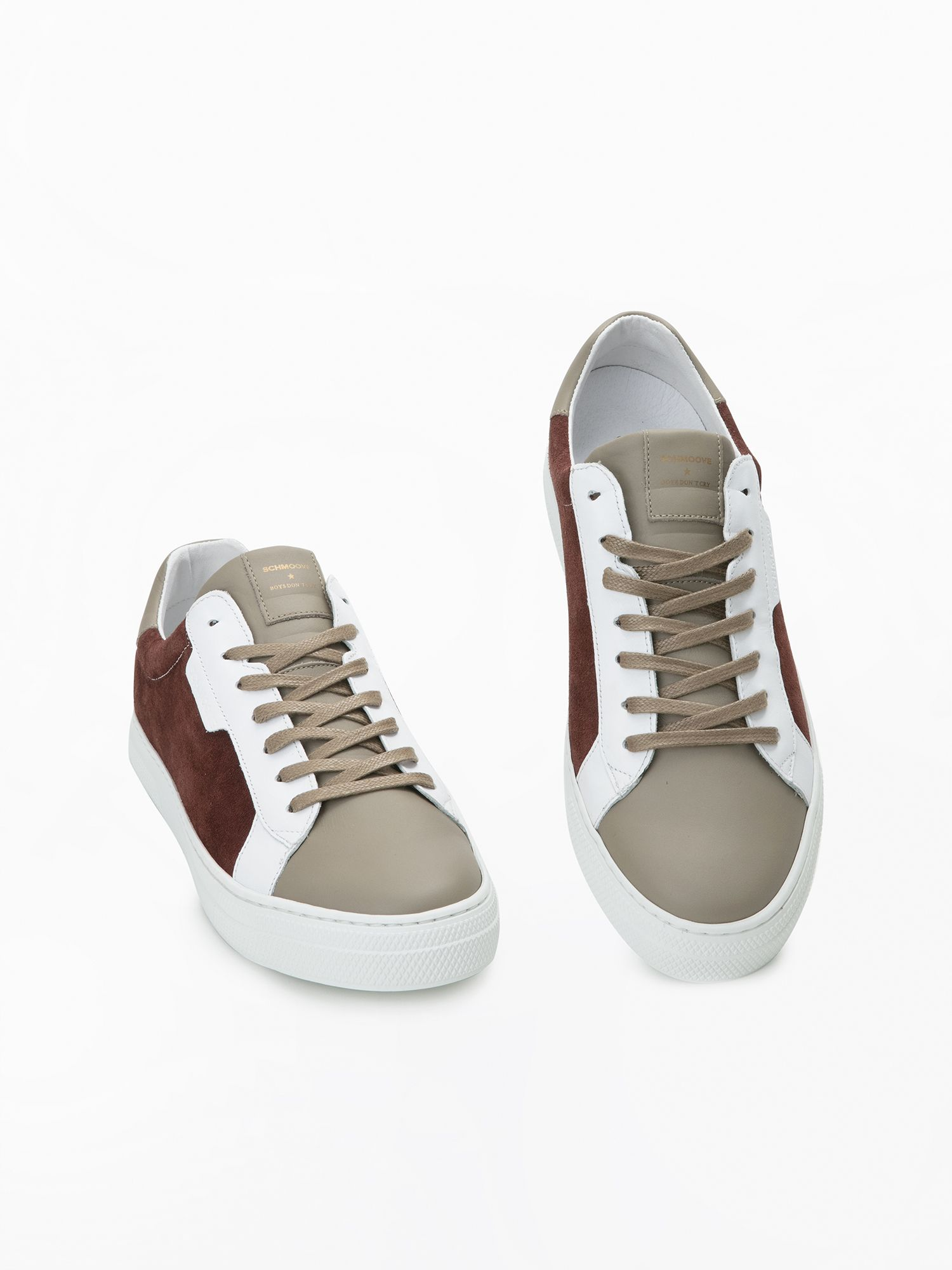 schmoove.fr SPARK CLAY - SUEDE/NAPPA - RUST/TAUPE