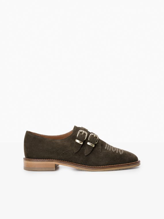 CALL BUCKLE - COWSUEDE - OLIVE