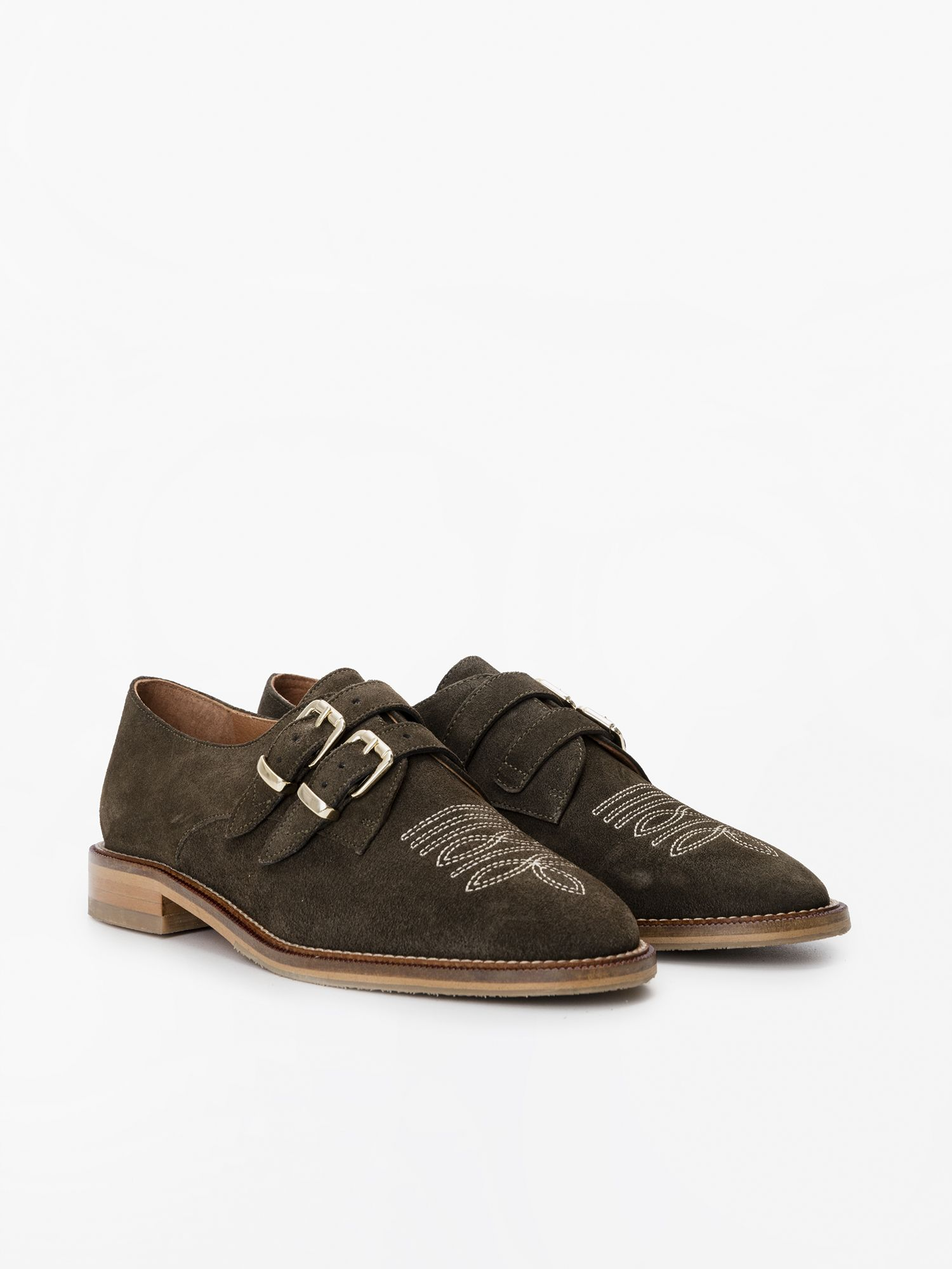 schmoove.fr CALL BUCKLE - COWSUEDE - OLIVE