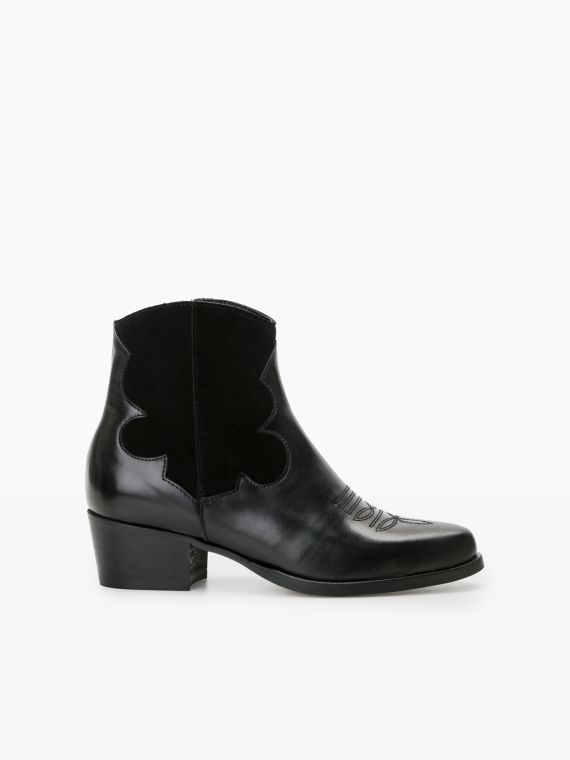 POLLY WEST - LOUXOR/SUEDE - BLACK/BLACK