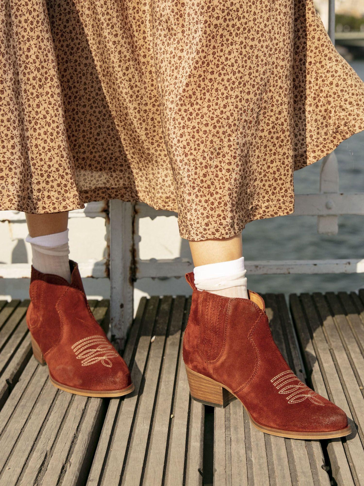 schmoove.fr Polly Boots - Cowsuede - Brique