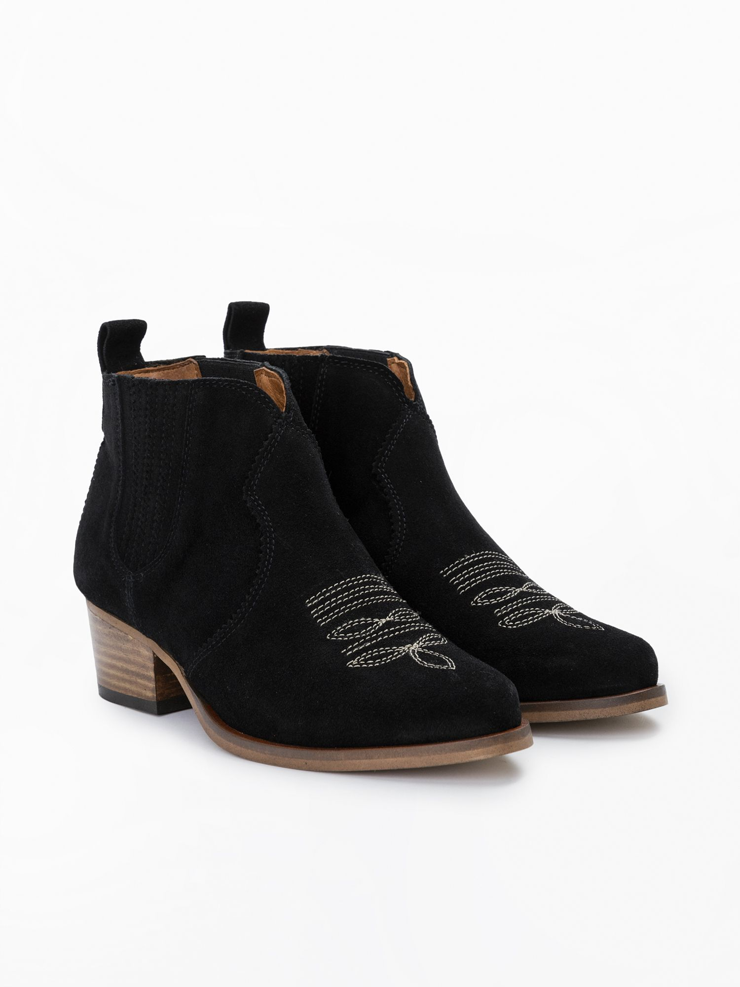 schmoove.fr Polly Boots - Cowsuede - Black