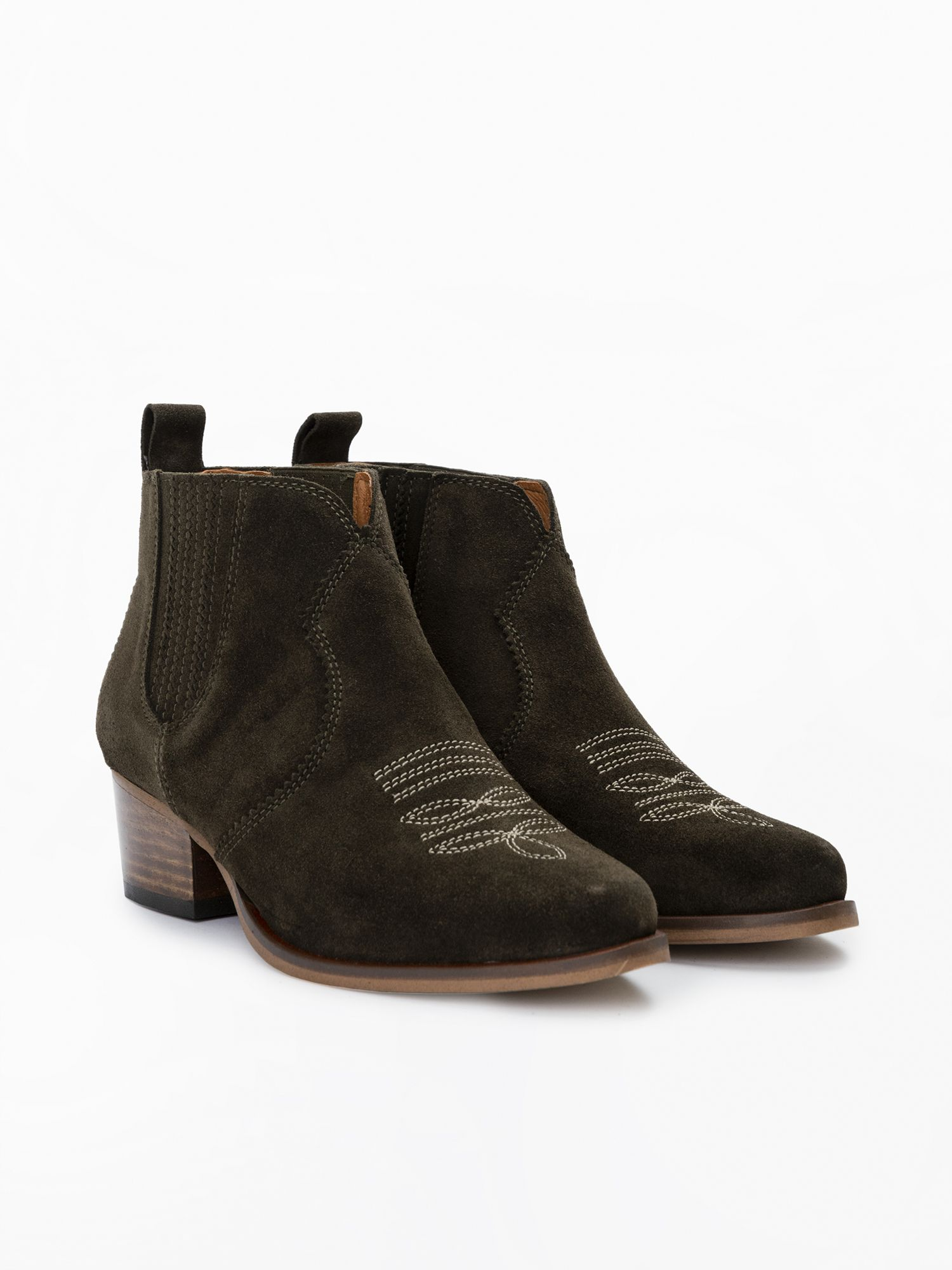 schmoove.fr Polly Boots - Cowsuede - Olive