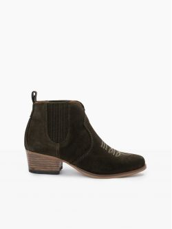 Polly Boots - Cowsuede - Olive