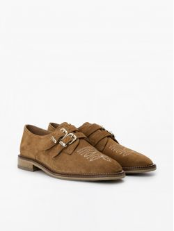 Call Buckle - Cowsuede - Cognac