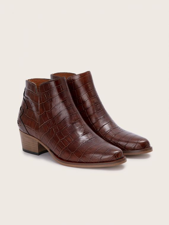 POLLY FOLK - PRINT CROCO - COGNAC