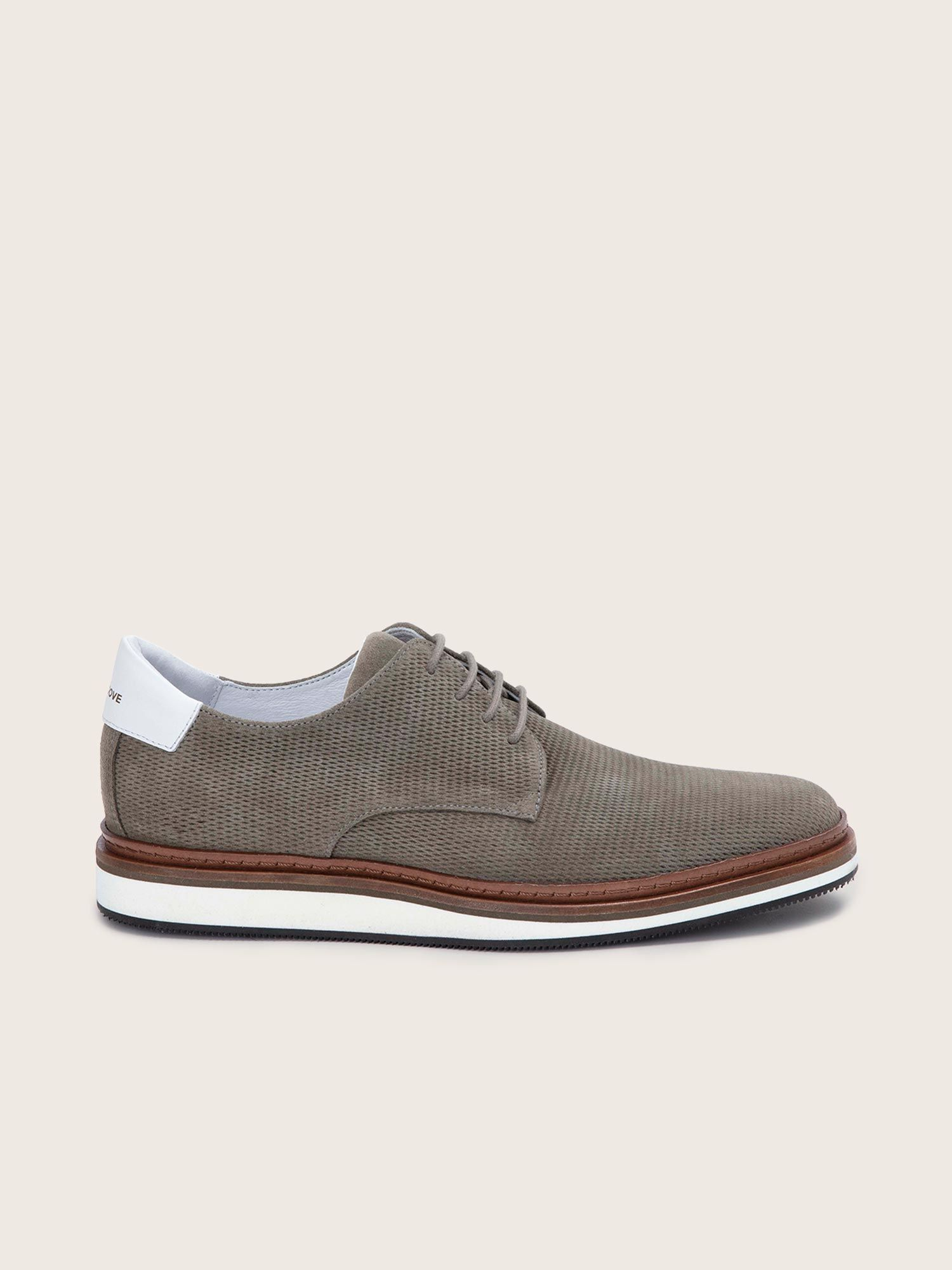 schmoove.fr PUNCH DERBY - P.SUEDE/NAPPA - ELEPHANT/WHITE