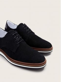 PUNCH DERBY - P.SUEDE/CICLON - BLACK/BLACK