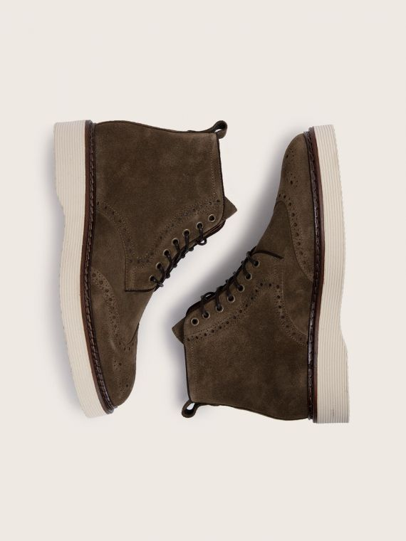 ROMA BOOTS - SUEDE - FORET SOLE DOVE