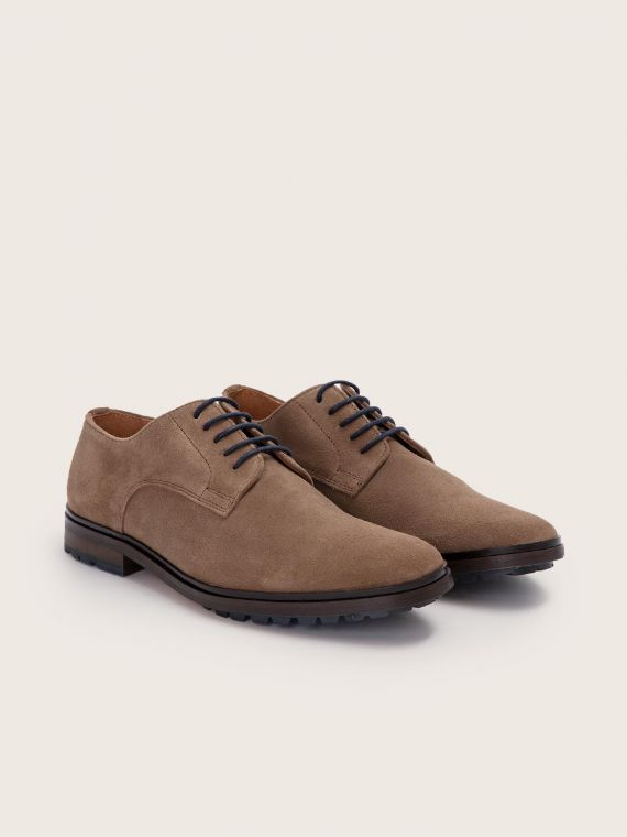 NAKO DERBY - SUEDE - TAUPE