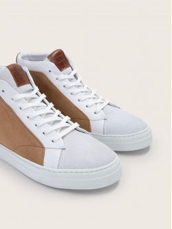 SPARK MID - SUEDE - WHITE/NATUREL