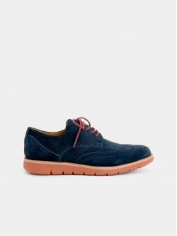 ECHO BROGUE - SUEDE - NAVY
