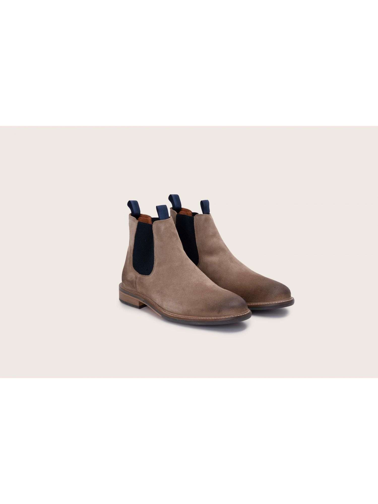schmoove.fr Pilot Chelsea - Suede - Taupe/Navy