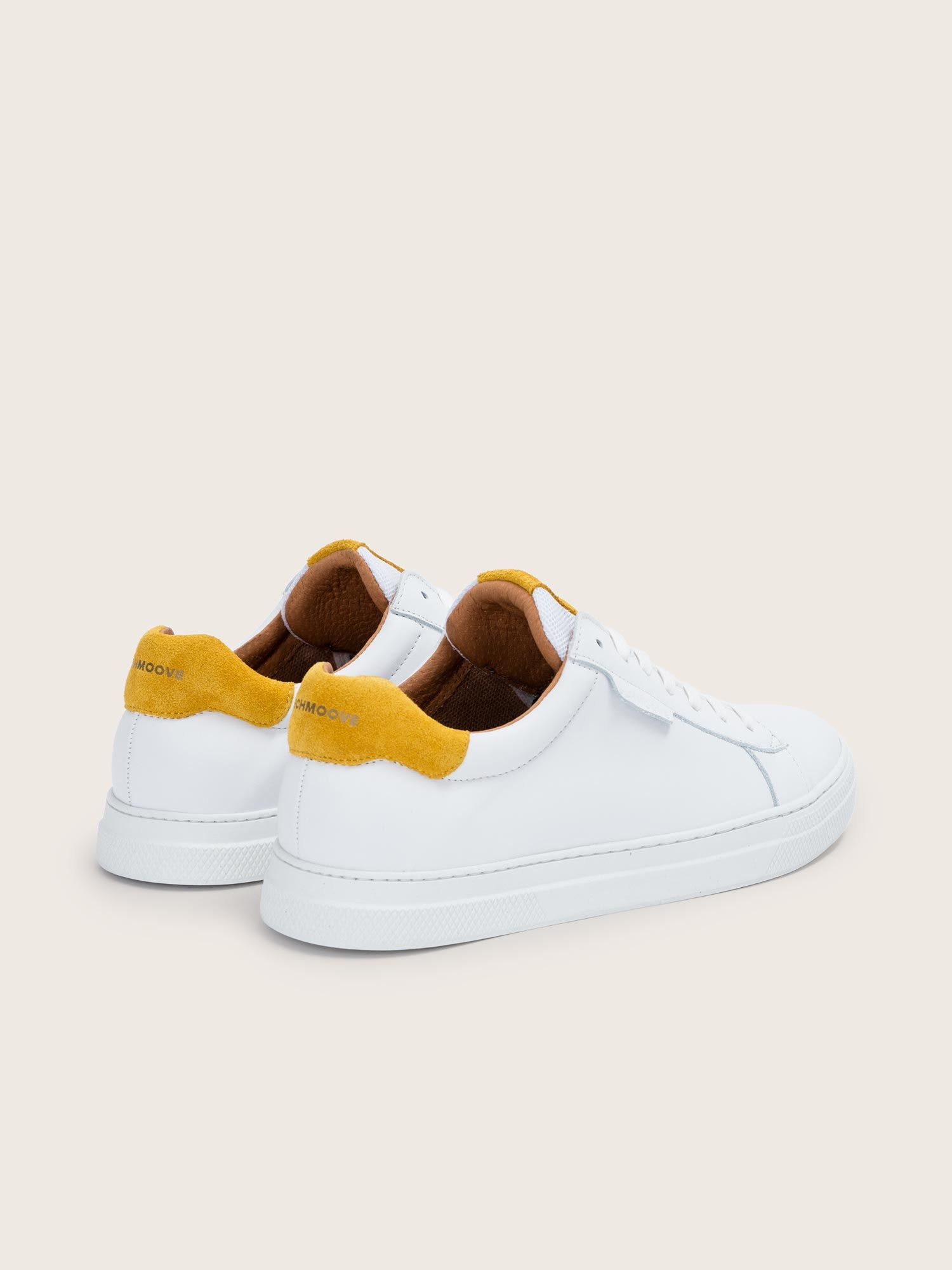 schmoove.fr Spark Clay - Nappa/Suede - White/Safran