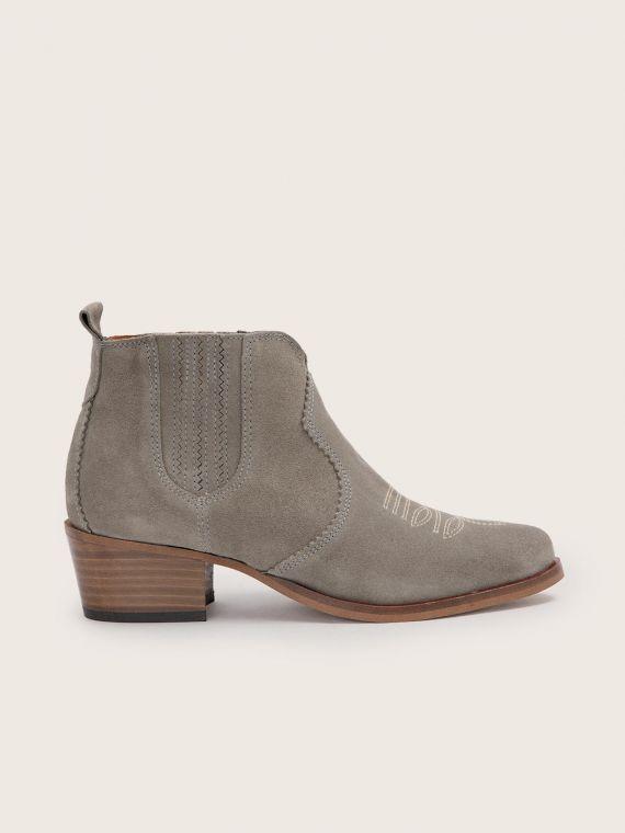 Polly Boots - Cowsuede - Argile