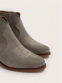 Polly Boots - Cowsuede - Argile