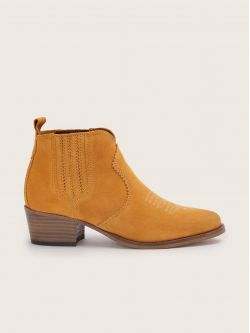 Polly Boots - Cowsuede - Safran