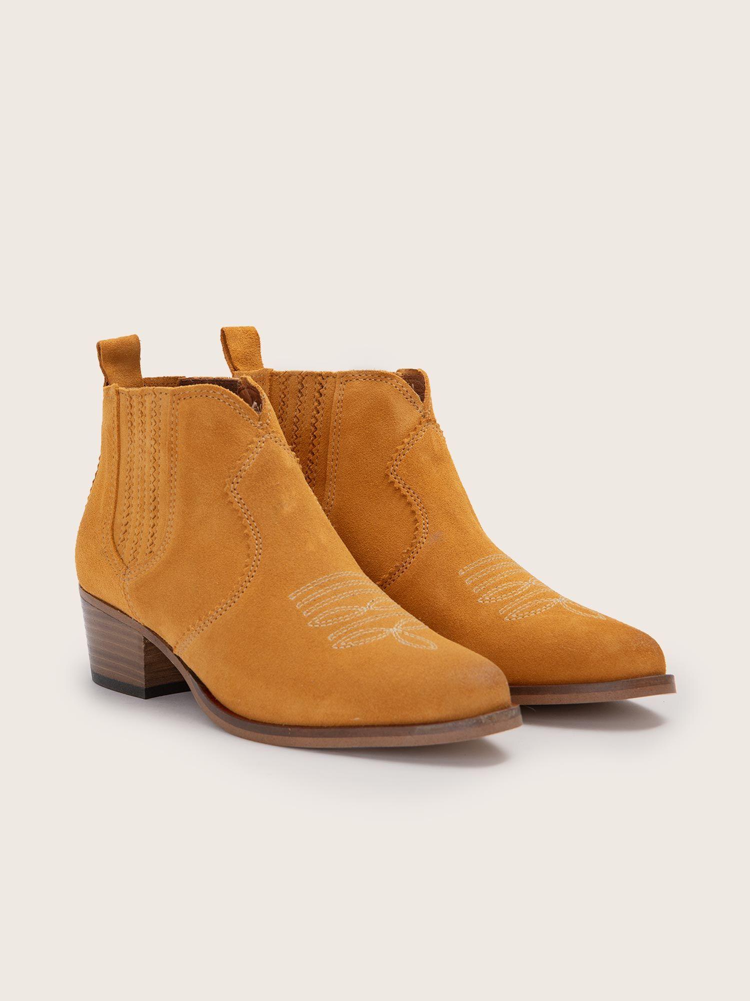 schmoove.fr Polly Boots - Cowsuede - Safran
