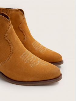 Polly Boots - Cowsuede - Safran