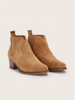 POLLY BOOTS - COWSUEDE - TABACCO