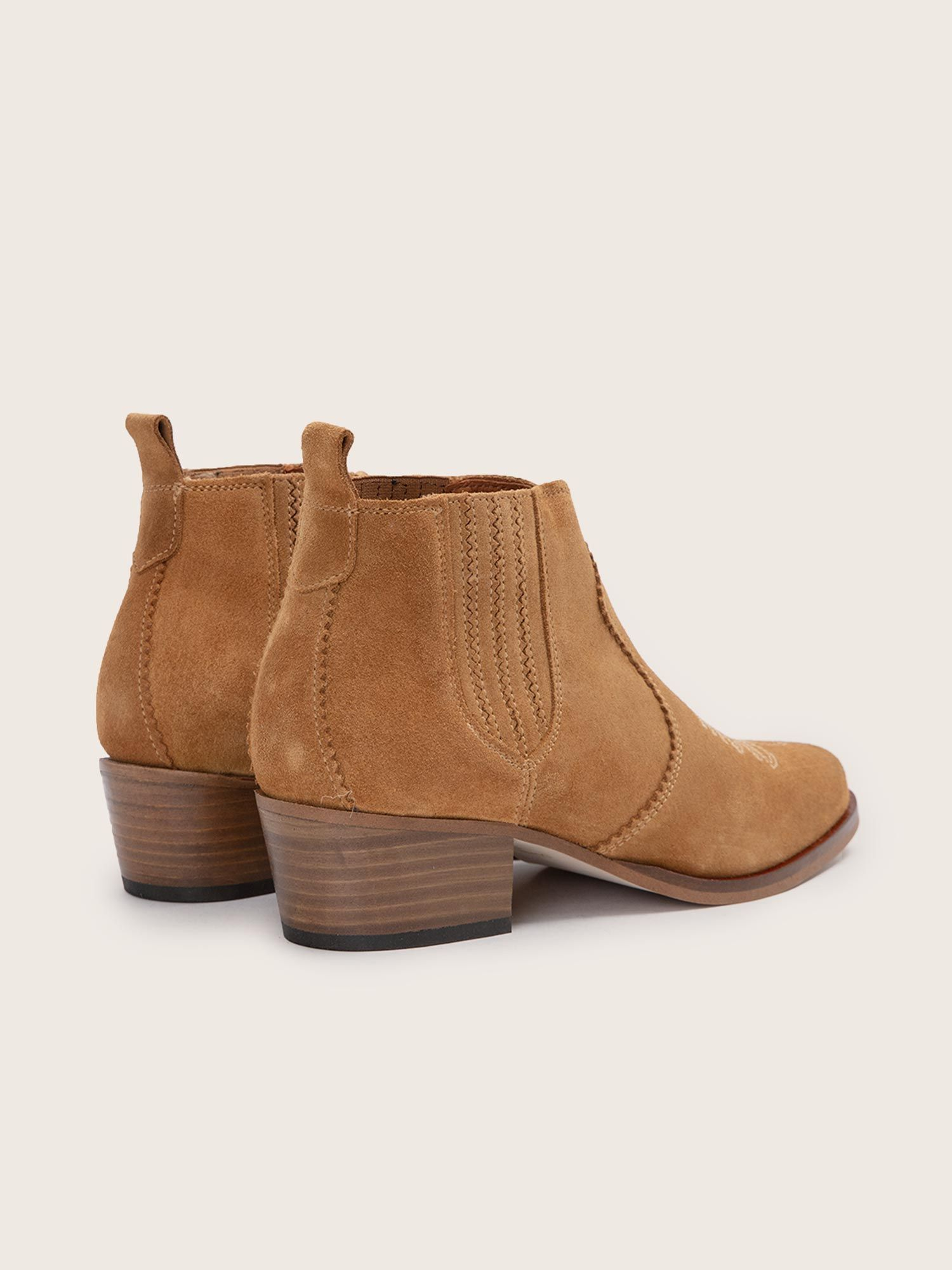 schmoove.fr POLLY BOOTS - COWSUEDE - TABACCO