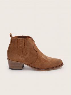 Polly Boots - Cowsuede - Cognac