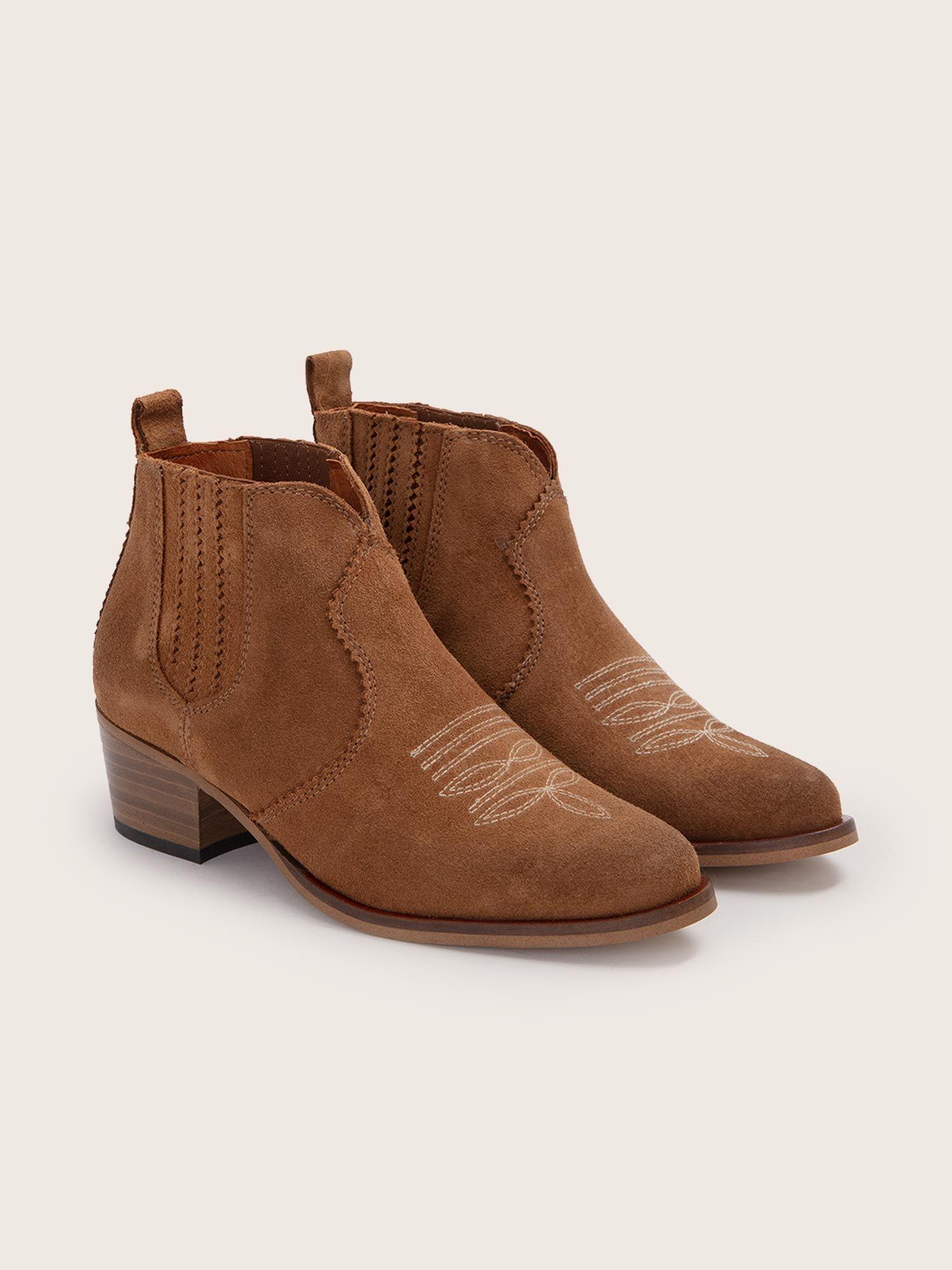 schmoove.fr Polly Boots - Cowsuede - Cognac