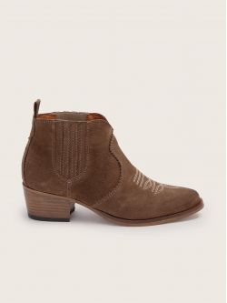 Polly Boots - Cowsuede - Taupe