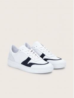 EVOC SNEAKER - NAPPA/SUEDE - WHITE/NIGHT BLUE