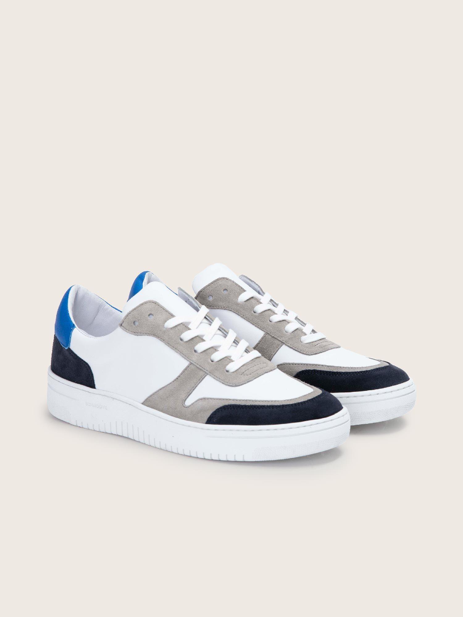 schmoove.fr EVOC SNEAKER - SUEDE/NAPPA - NIGHT BLUE/WHITE