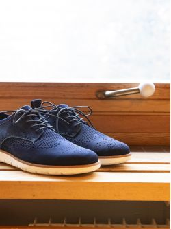 Echo Derby - Flex/Nubuck - Navy/Navy