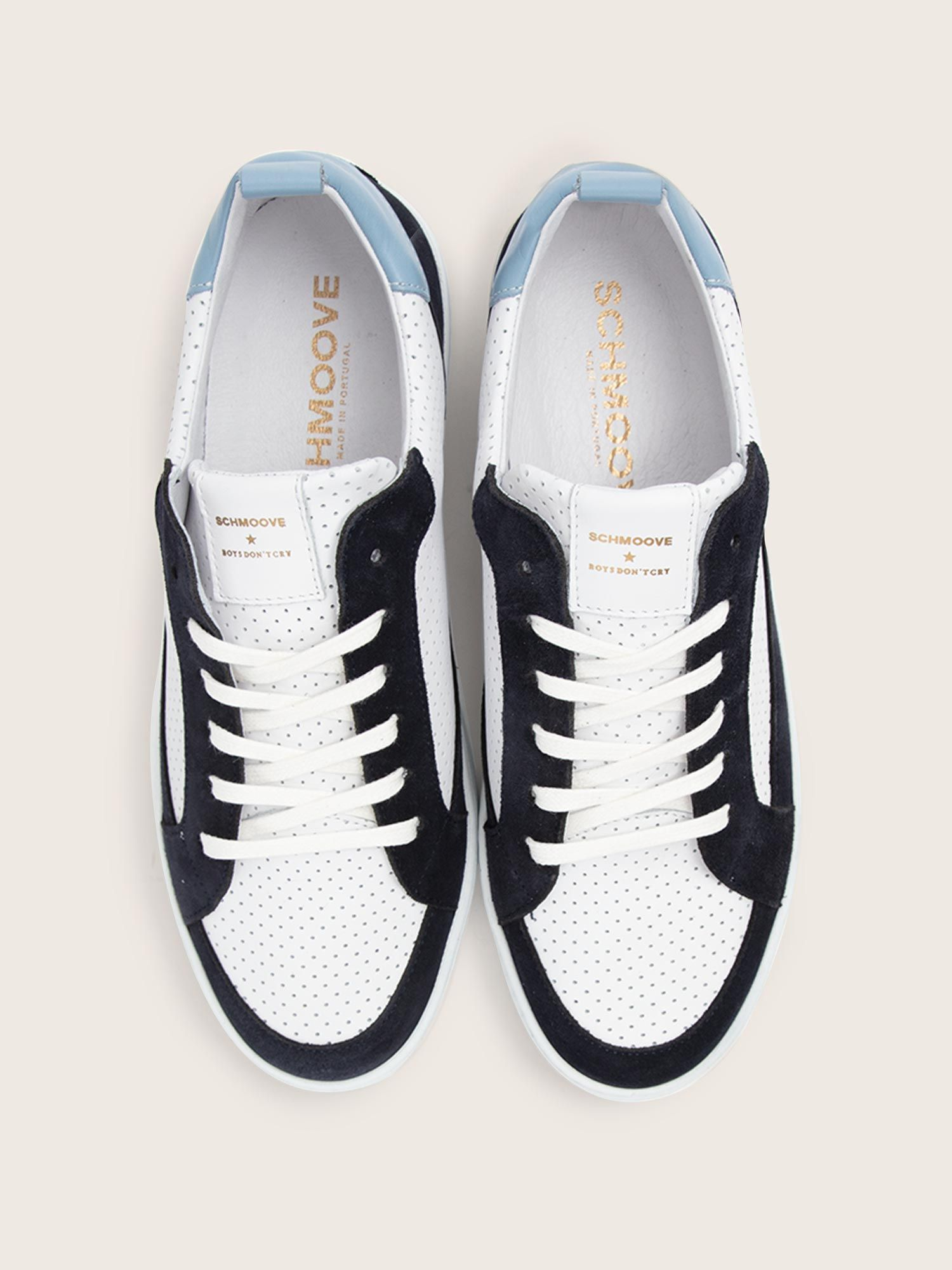 schmoove.fr EVOC CLUB - SUEDE/PUNCH NAP - NAVY/WHITE