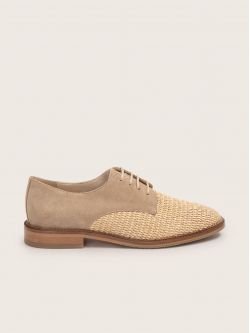 Call New Lace - Rafia/Cow Suede - Naturel/Sable