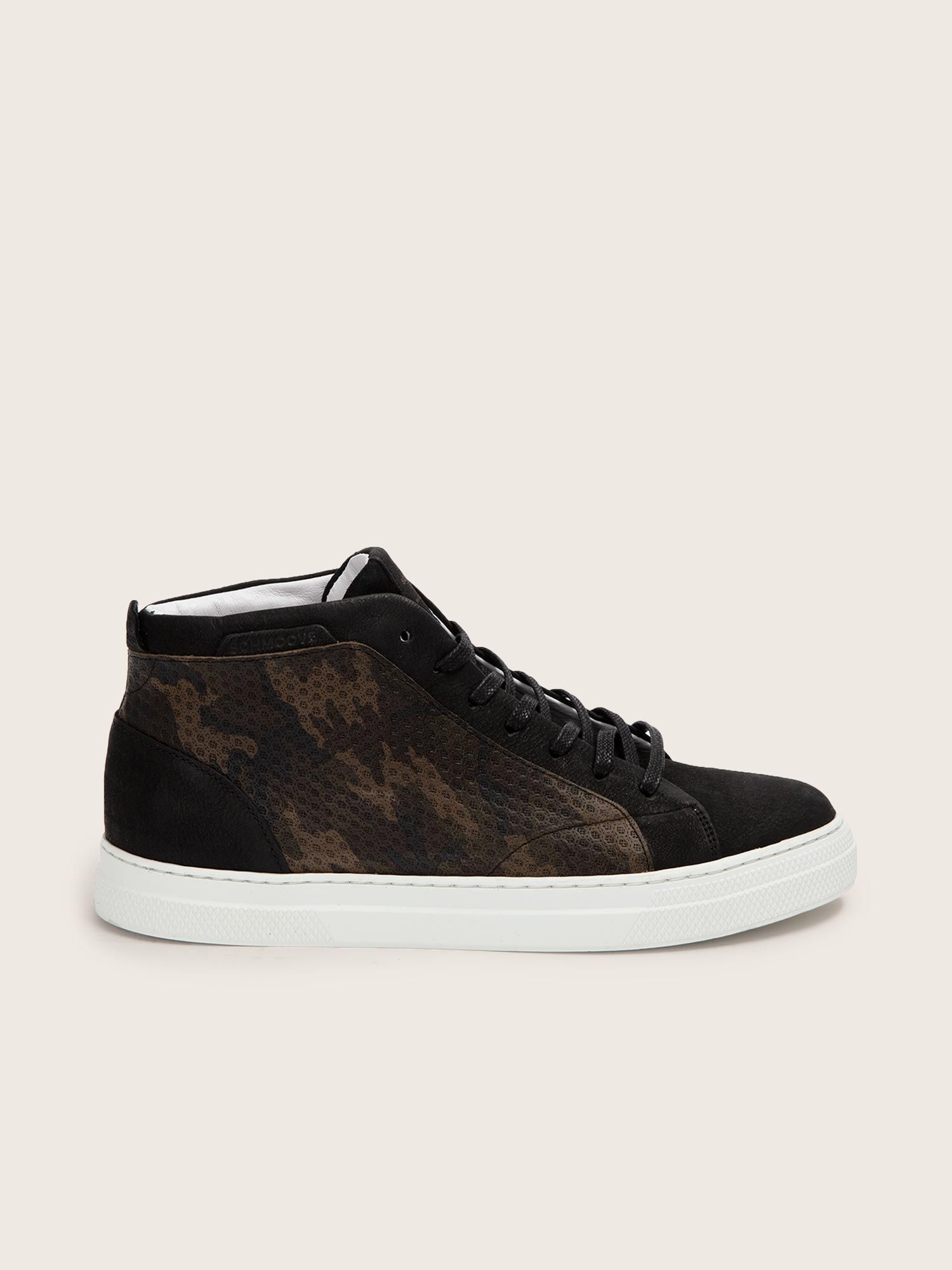 schmoove.fr SPARK MID - NUBUCK/ARMY - BLACK/BROWN