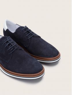 PUNCH DERBY - P.SUEDE/NAPPA - NAVY/WHITE