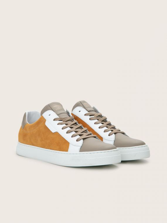 Spark Clay - Suede/Nappa - Moutarde/Taupe