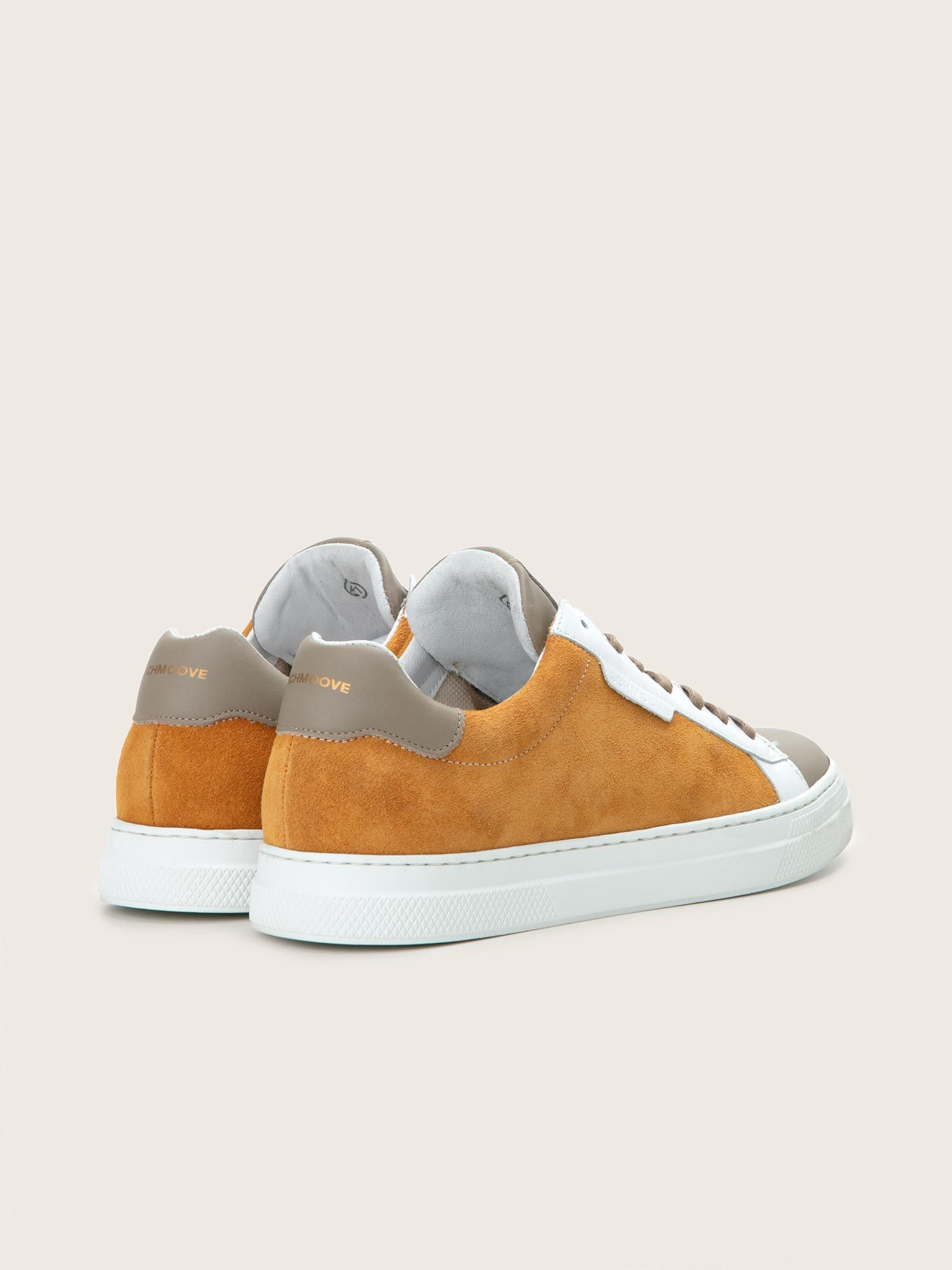 schmoove.fr Spark Clay - Suede/Nappa - Moutarde/Taupe