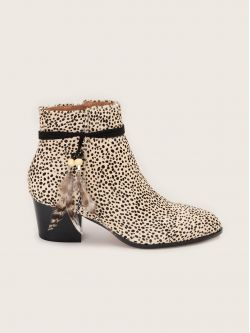 STORY BOOTS - PONY GUEPARD - BEIGE