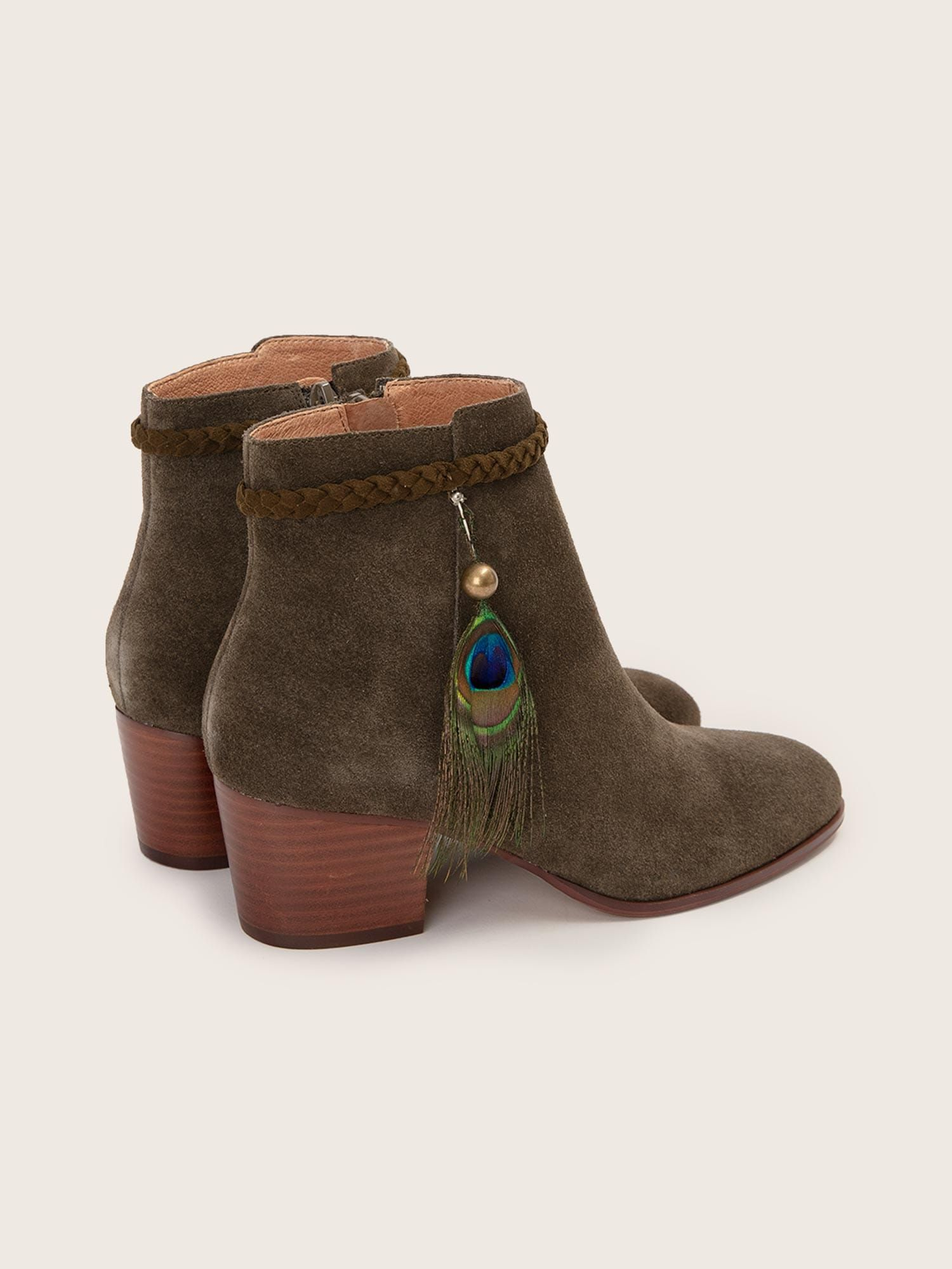 schmoove.fr STORY PEACOK - SUEDE - OLIVE